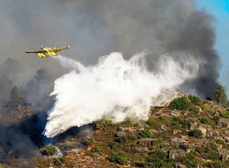 Dois meios aéreos combatem incêndio no parque Peneda-Gerês