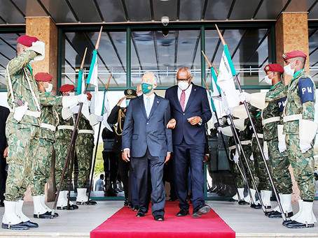 Marcelo Rebelo e Jorge Carlos Fonseca prometem solução para dívida de Cabo Verde