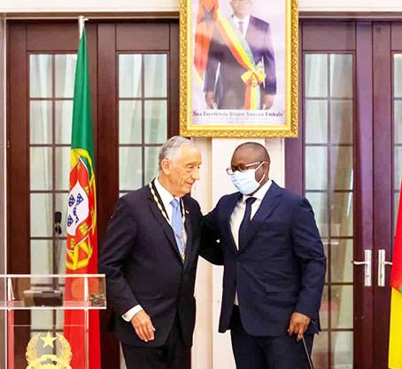 PR guineense condecora Marcelo Rebelo de Sousa com medalha Amílcar Cabral