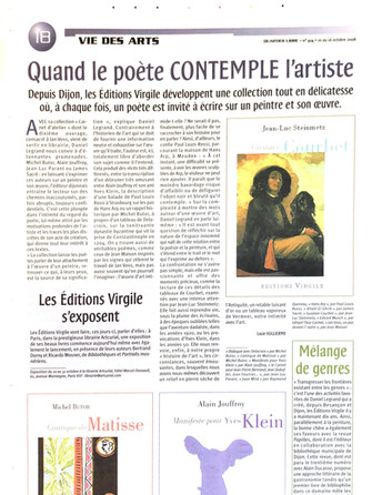 Vie des Arts - Editions Virgile