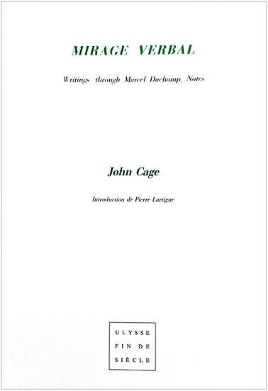 John Cage  |  Mirage Verbal