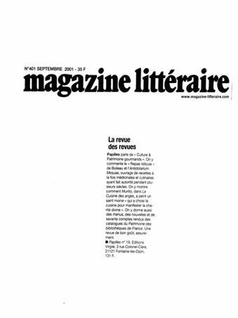 Magazine littéraire - Revue Papilles