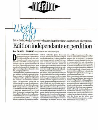 Libération - Les Editions Virgile