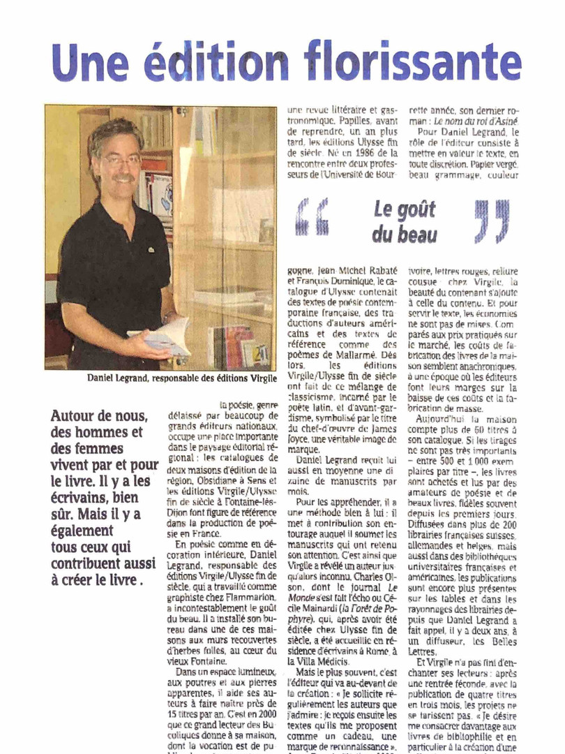 Daniel Legrand - Les Editions Virgile
