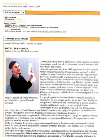 Le bien public - Daniel Legrand