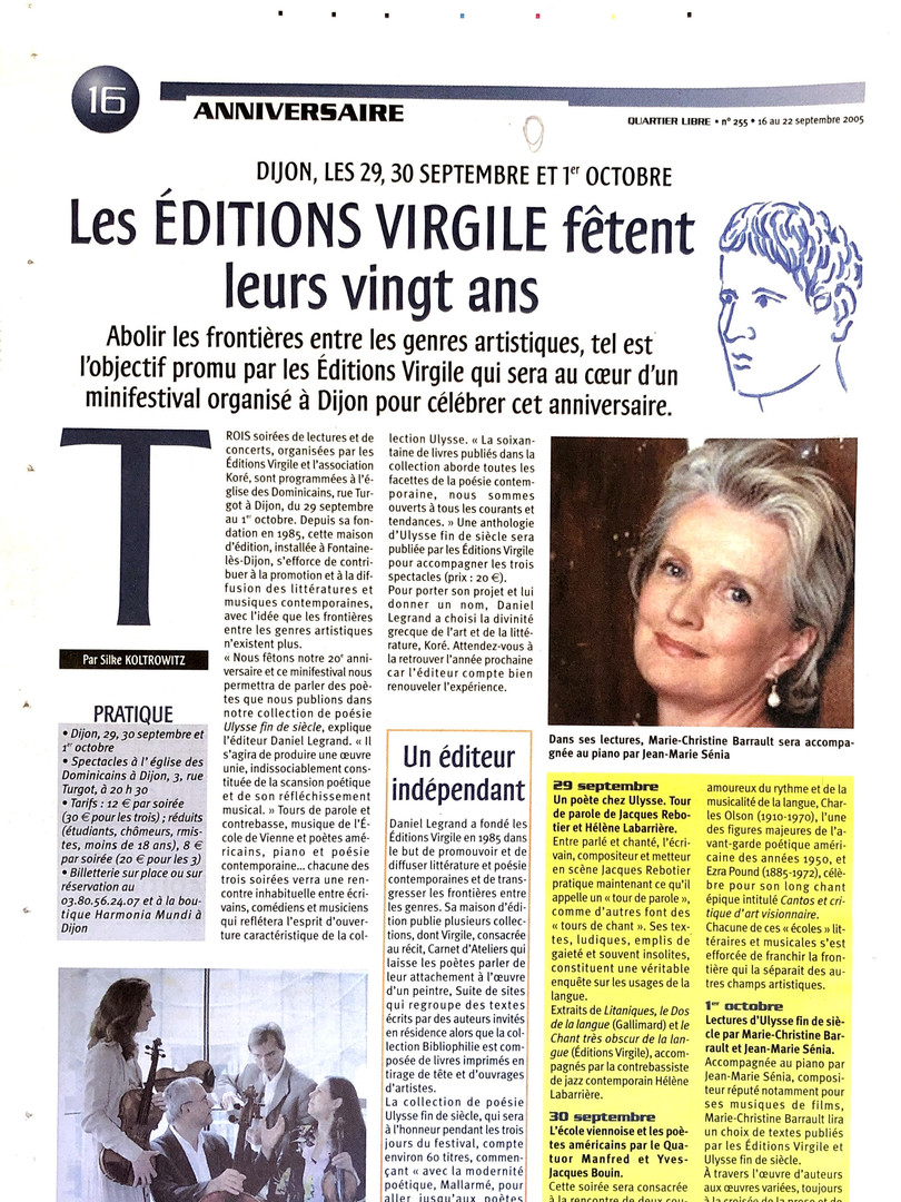 Quartier Libre - Editions Virgile