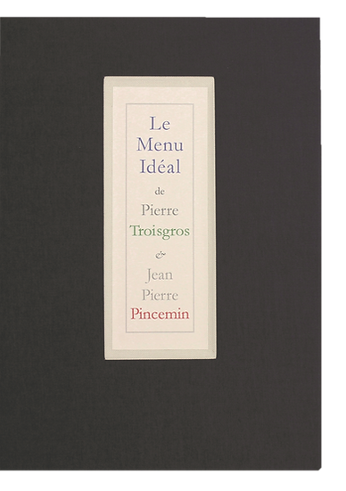 Jean-Pierre Pincemin | Le Menu Idéal