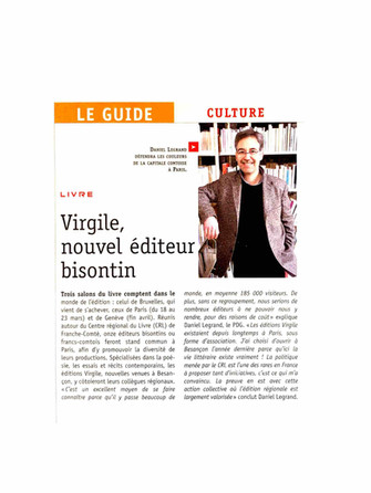 Le guide - Les Editions Virgile