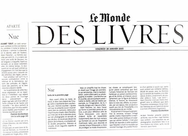 Le Monde - Alain Fleischer