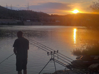Sun Setting on the Ebro for Martin after an amazing session!