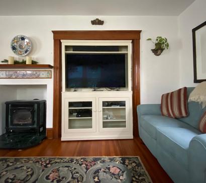 Custom TV Console and Hutch