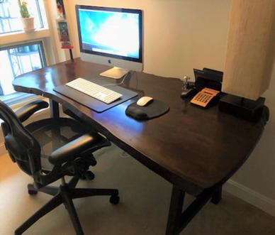 Middlesex Live-Edge Computer Desk
