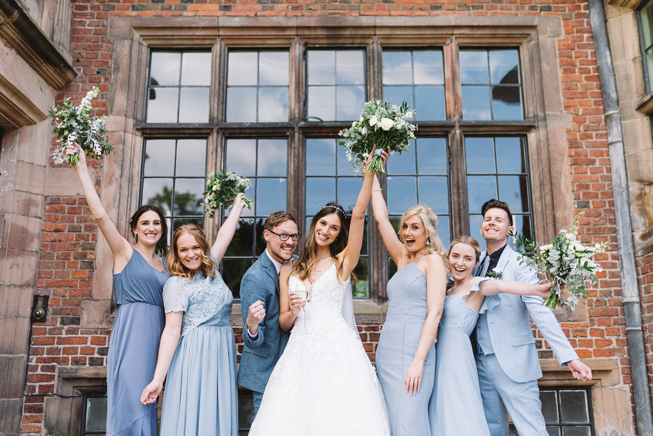 Bridal Party celebrating at Dorfold
