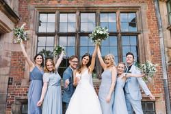Bridal Party celebrating at Dorfold