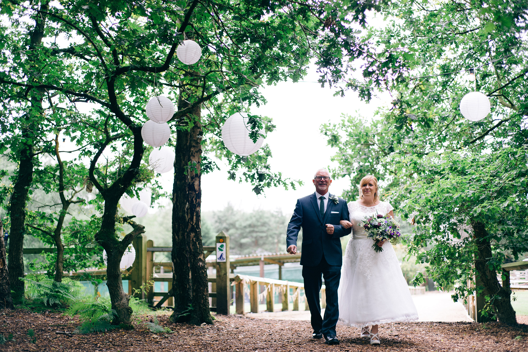Cheshire Woodland Wedding Photograph
