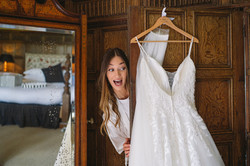 Bride prep at Dorfold Hall