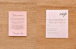 Classic Vintage Wedding Invitation RSVP Wishing Well Matt Mindy Lace Layered Pocket Style