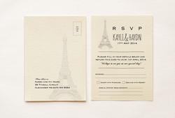 Paris Themed RSVP Card