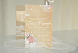 Rustic Floral Lace Wedding Invitation