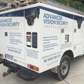 Ute decals for Advanced Vision Security Installations