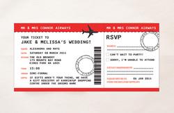 Boarding Pass Airline Plane Ticket Invitations