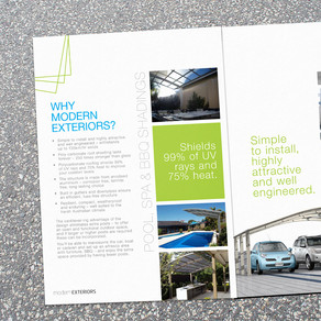 4 Page Brochure for Modern Exteriors