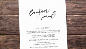 Simplistic Black & White Invite