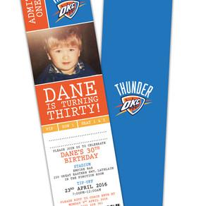 Basketball Ticket Themed 30th Birthday Invitations