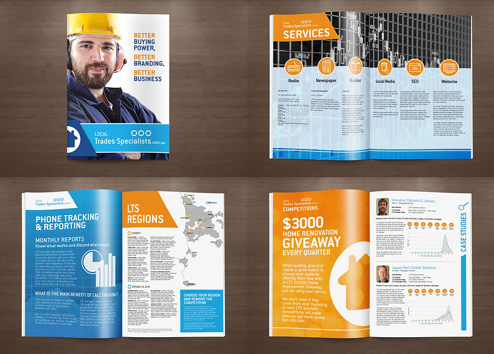 Local Trades 12 Page Brochure Design by Laroja Creative Graphic Design Perth