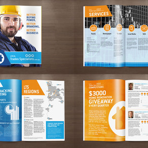 Local Trades 12 Page Brochure Design