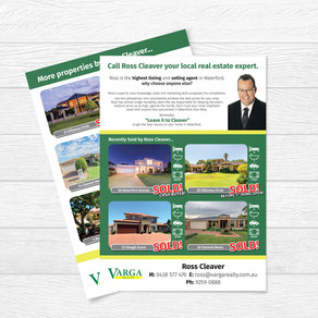 Sold Properties Flyer for Ross Cleaver at Varga Realty