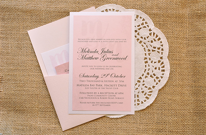 Classic Vintage Wedding Invitation Matt Mindy Lace Layered Pocket Style