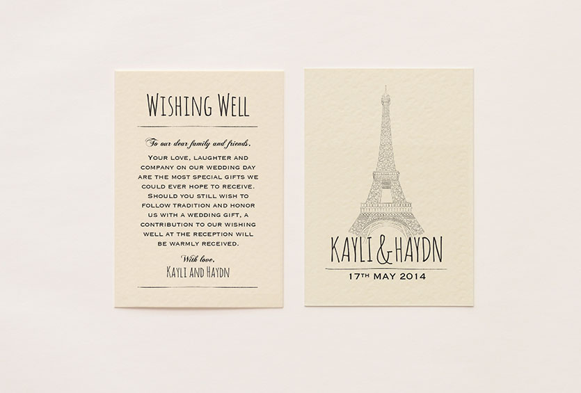 Paris Themed Wishing Well Card