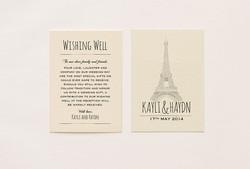Paris Themed Wishing Well Card