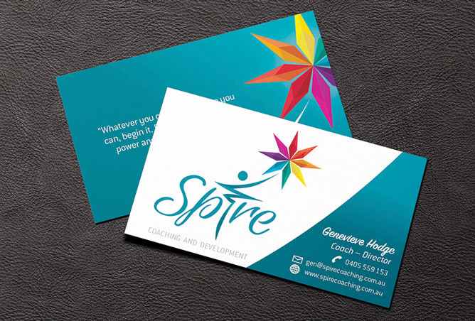 Spire Business Card Design by Laroja Creative Graphic Design Perth