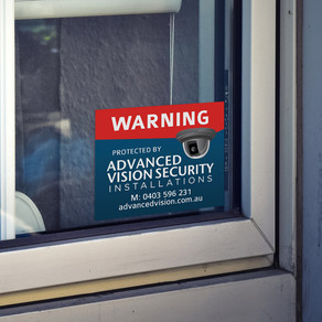 Warning Window Stickers for Advanced Vision Security