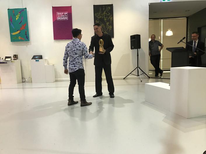 2016 TAFE Graphic Design Grad Show Travis Walker Award Winner
