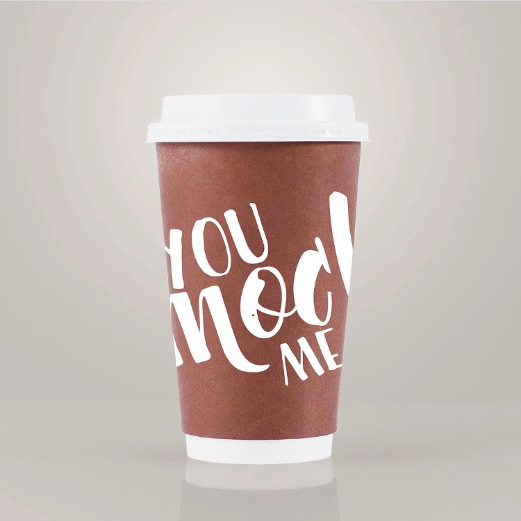 You Mocha Me Crazy Coffee Cup Design