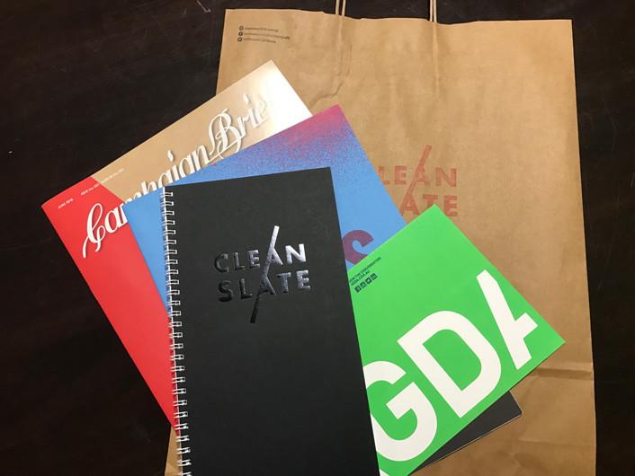 2016 TAFE Graphic Design Grad Show Goodie Bag