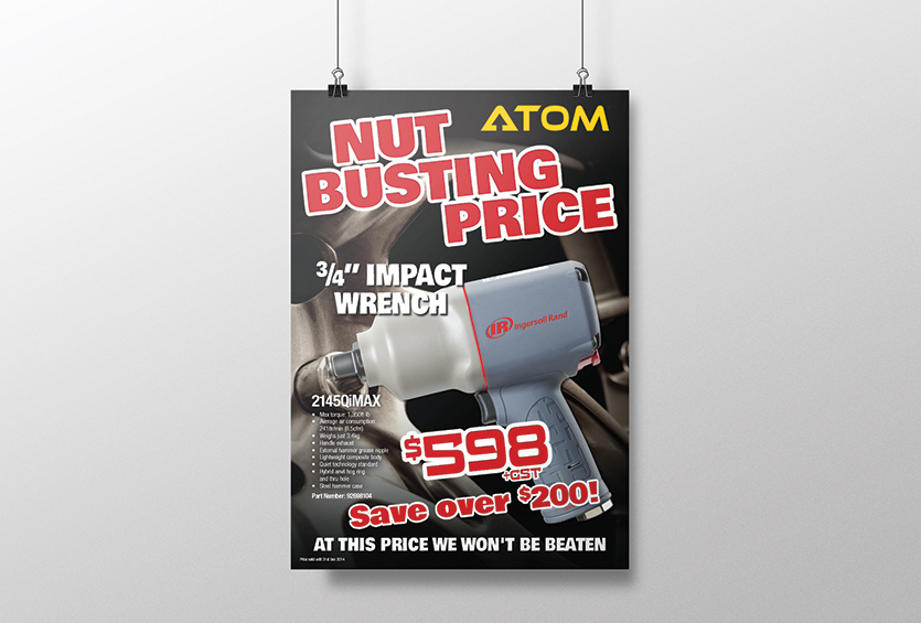 ATOM QMag Nut Busting Price Poster