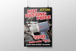 ATOM QMag Nut Busting Price Poster