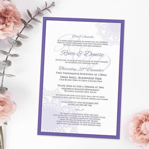 Purple Classic Monogram