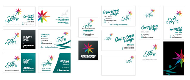 Spire Business Card Design Concepts