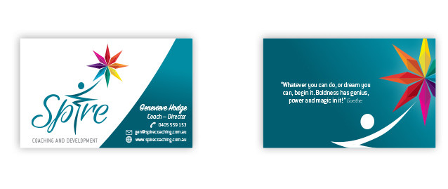 Spire Business Card Front and Back