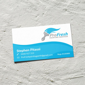 Business Card for ProFresh Painting Services