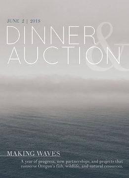 2018 Dinner & Auction program book