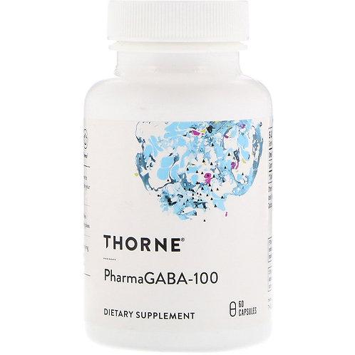 Thorne Research, PharmaGABA-100, 60 Capsules