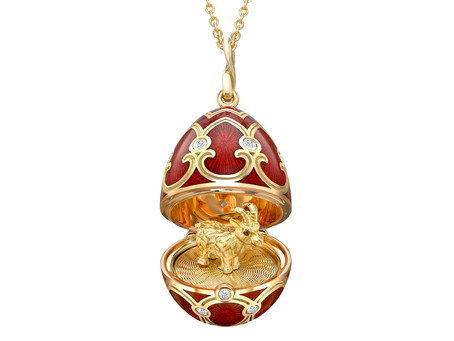 Fabergé Celebrates Chinese New Year with Ox Surprise Pendant