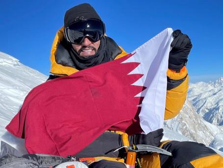 "Fahad Badar succeeds in reaching the top of ""Broad Peak"" mountain"