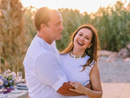 RAYA ABIRACHED WEARS GENNY TO CELEBRATE WEDDING ANNIVERSARY